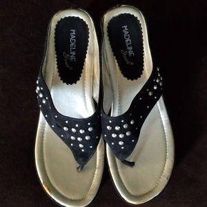Black dressy flip flops